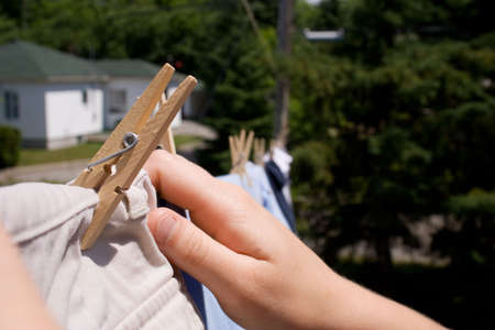 laundry washing line 版權商用圖片
