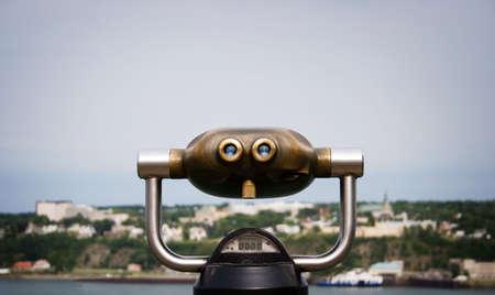 ケベック州の双眼鏡 写真素材