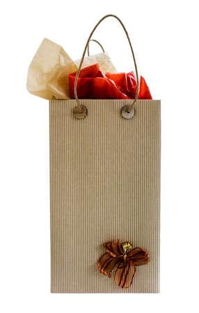 Gift bag isolated on white background