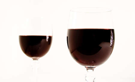 two wine glass isolated on white background Stok Fotoğraf