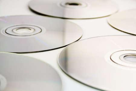 CD texture  background on white background (Shallow DOF) Stock Photo