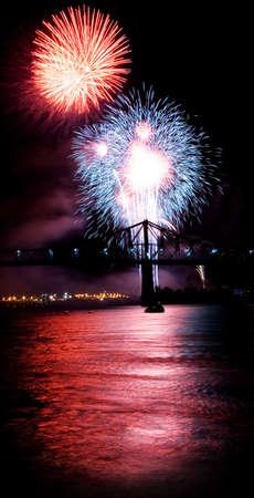 USA fireworks at La Ronde, Montréal (19 july 2006)