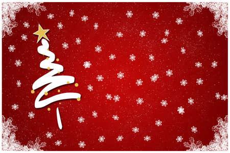 스노우 플레이크 양식에 일치시키는 크리스마스 트리