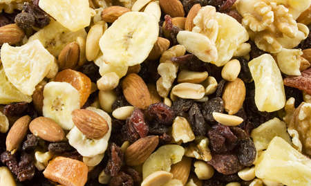 harmless: Fruit and Nut medley texture Stock Photo