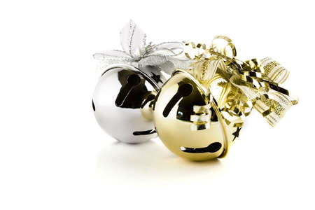 Jingle bells isolated on white photo
