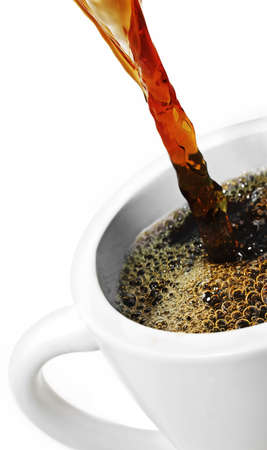 Pouring Coffee into a cup.  Stok Fotoğraf