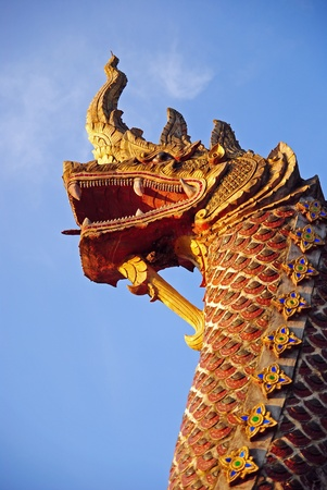 statue king of naga, thailand photo