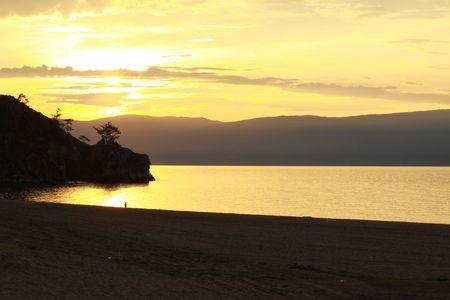 Baikal`s sunset photo