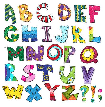 coma: ABC alphabet Illustration