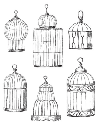 Set of different cages Banco de Imagens - 24355693