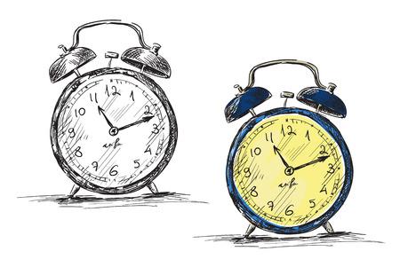 clock face: Retro clock illustration