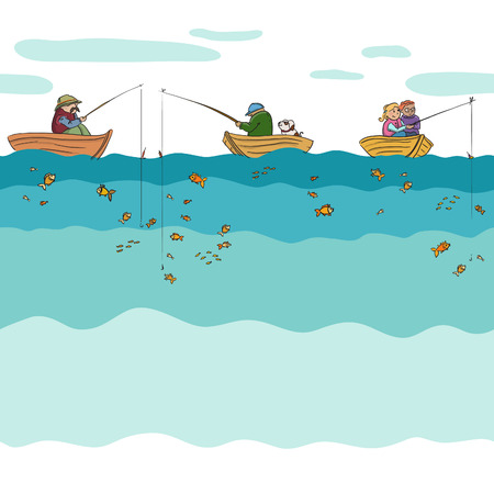 Fishing seamless Vector