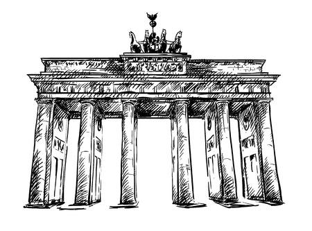 Brandenburg Gate sketch  Ilustracja