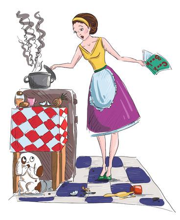 Huisvrouw illustratie Stock Illustratie