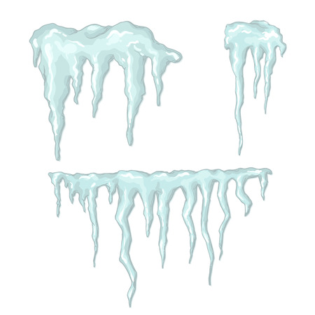 Set of cartoon icicles