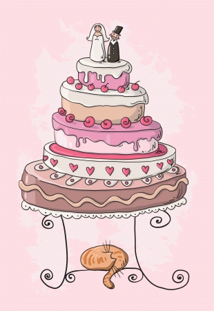 layer cake: wedding cake cartoon