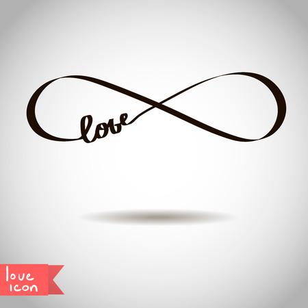 infinito simbolo: Icona di amore eterno San Valentino simbolo vettore Vettoriali