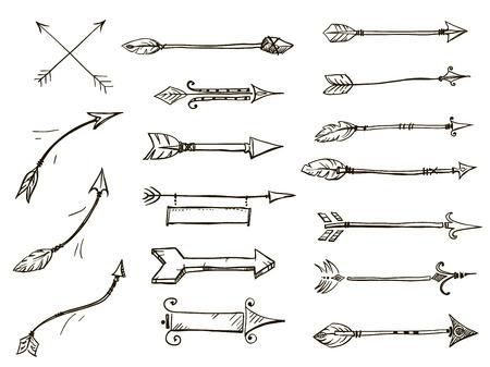 落書き矢印部族スタイルのセット