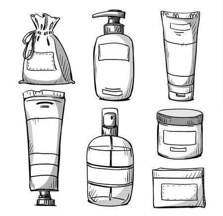 パッケージ デザイン。化粧品パッケージ デザイン。ベクトル イラスト。