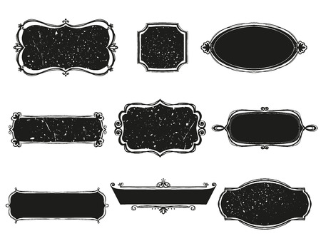 letreros: conjunto de letreros. Ilustraci�n vectorial