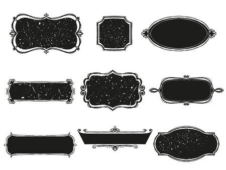 decoration: set of signboards. Vector illustration
