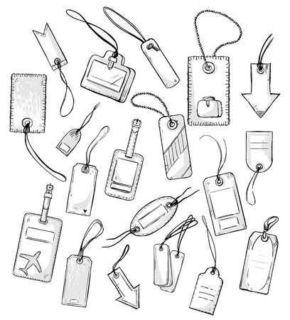 set of various tags tags. vector illustration.