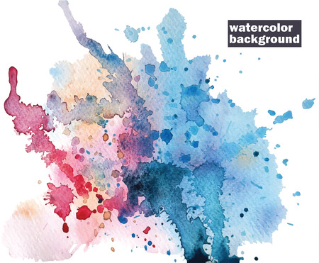 Watercolor abstract background. Hand painted. Stok Fotoğraf - 37819670