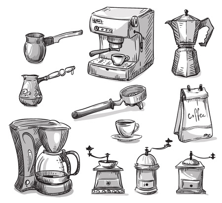 Set coffee making equipment