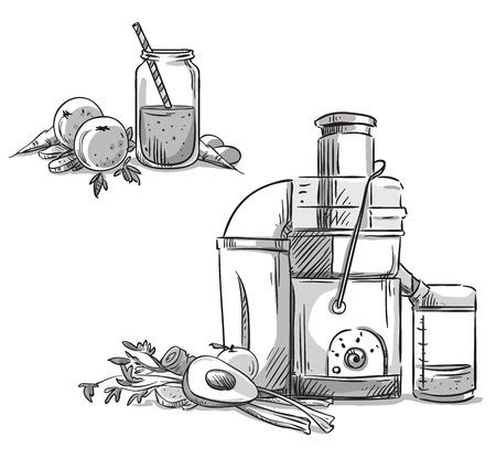 juicing: Juicer. Juicing machine. Healthy diet.