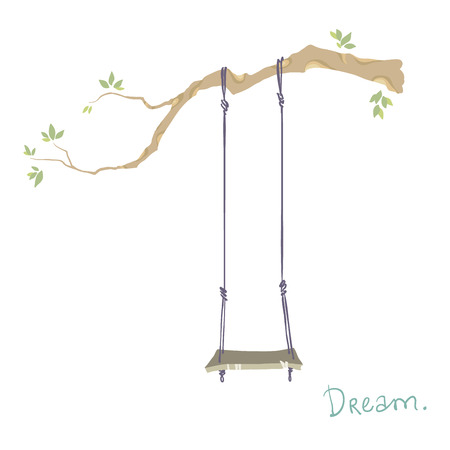 tree with a swing