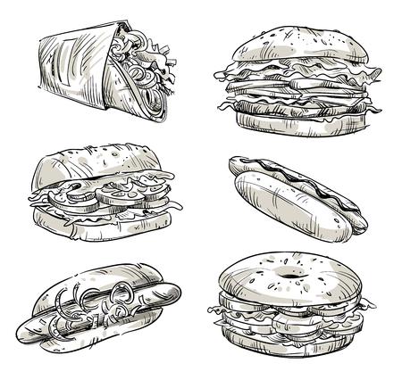 fast food: Sandwiches. Fast food. Snacks.