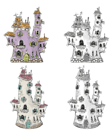 fantasy: Fantasy houses illustration