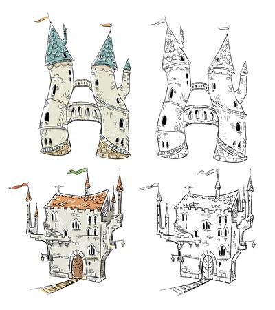 fantasy: Fantasy castles illustration