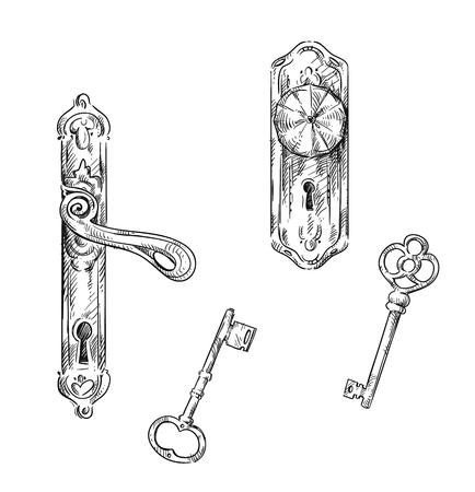 Door handles and keys