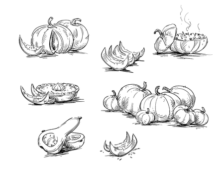 Dishes with pumpkin.