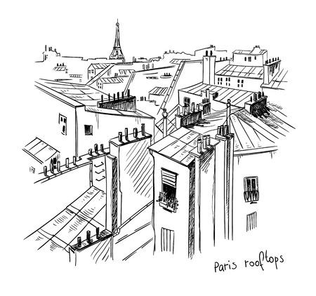 Paris rooftops. Ilustração