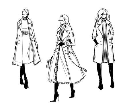 Mirada de invierno. Ilustración de moda Ilustración de vector