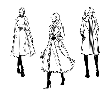 Winter look. Fashion illustration 版權商用圖片 - 115011906