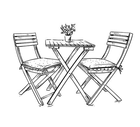 mobili da giardino Vettoriali