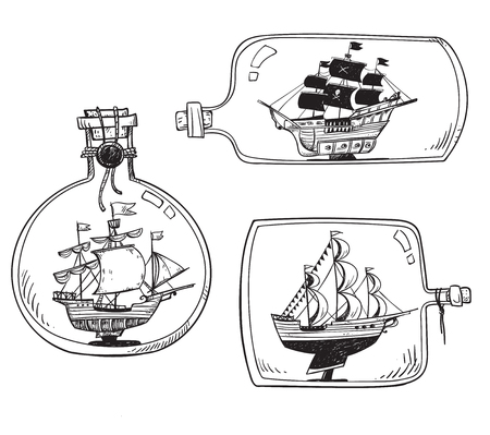 Souvenir from the sea - ship in a bottle.