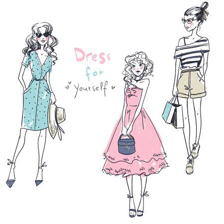 Filles de la mode, look décontracté