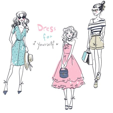 Ragazze alla moda, look casual