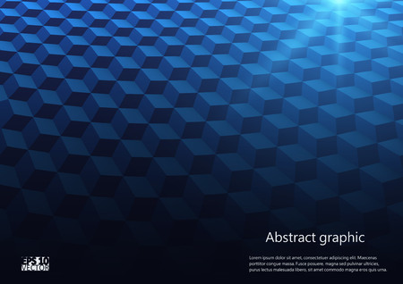Abstract perspective background with cubes. Eps10 Vector illustration.