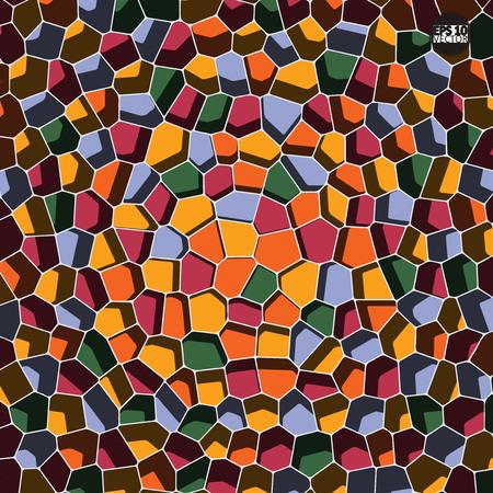 Vector stone pattern. Abstract mosaic pattern. Eps10 Vector illustration. Ilustração