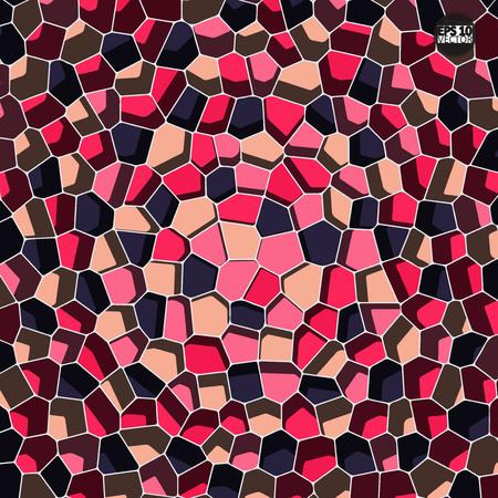 Een vectorsteenpatroon. Abstract mozaïekpatroon. Eps10 Vector illustratie. Vector Illustratie