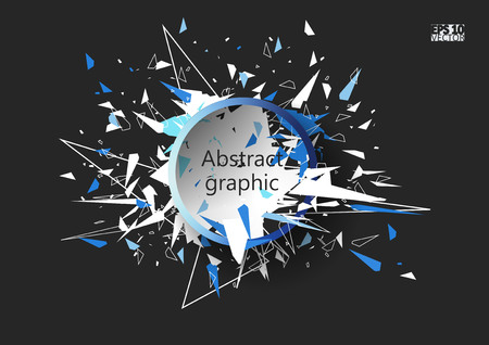 Graphic illustration with geometric pattern. Eps10 Vector illustration.