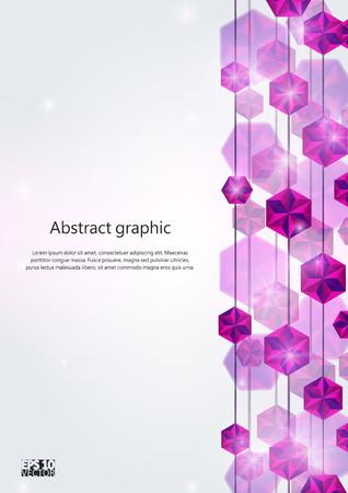 Falling Gems Abstract Background. Eps10 Vector illustration. Illustration