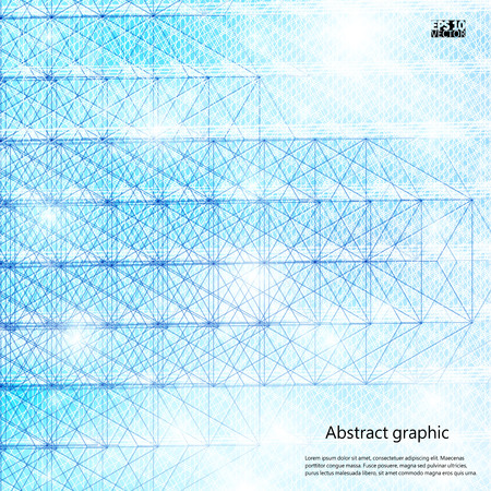 Graphic illustration with geometric pattern.Vector illustration.