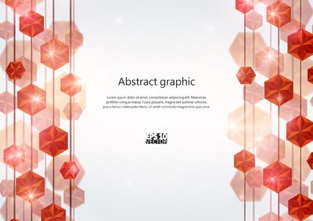 Diamond Lines Background.  Vector illustration.