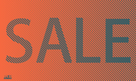 Sale banner template design. Cool halftone gradients. Eps10 Vector illustration. Illustration